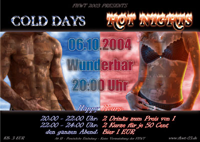 Flyer Cold Days - Hot Nights