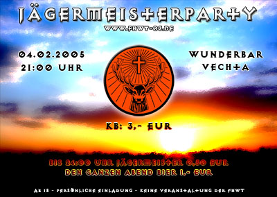 Flyer J�germeister-Party